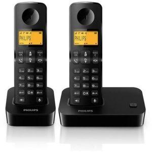 philips d2002b fr t l phone sans fil 2 combin s. Black Bedroom Furniture Sets. Home Design Ideas