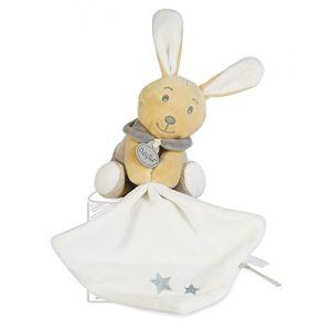 Babynat Doudou Perlim le lapin gris avec mouchoir