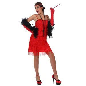 Déguisement charleston robe rouge femme