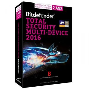 Bitdefender Total Security Multi-Device 2016 pour Windows, Mac OS, Android