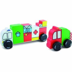 Vilac 6170 - 3 drôles de camions aimantés