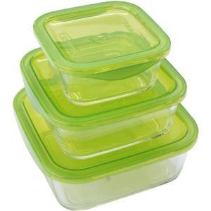 Luminarc 3 boîtes Keep'n Box en verre avec couvercle (36 cl + 72 cl + 117 cl)