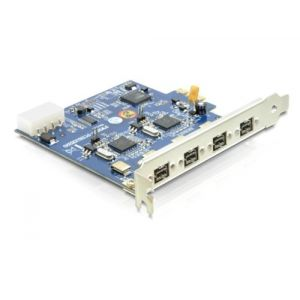 Delock 89208 - Carte PCI Express vers Dual Channel 2 x 2 FireWire B