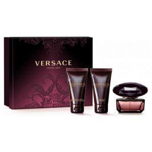 Versace Crystal Noir - Coffret eau de toilette, gel douche et lait pour le corps