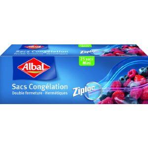 Albal 2 boîtes de 25 sacs congélation Ziploc mini modèle