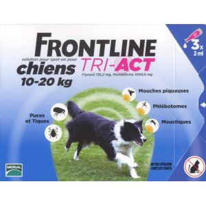 Merial Frontline Tri-Act Chiens 10-20 kg - 3 pipettes