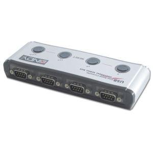 Lindy 42858 - Convertisseur USB vers 4 ports série RS-232
