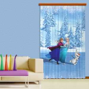 Rideaux La Reine des Neiges (140 x 245 cm)