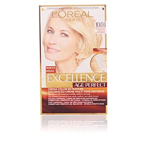 L'Oréal Excellence Age Perfect 10.03 Blond Très Clair Doré - Crème colorante triple protection