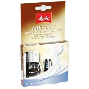 Melitta 105106 - 4 tablettes Anti Calc détartrantes pour machines à café