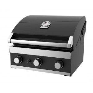Grandhall Premium GT3 - Barbecue à gaz encastrable 3 brûleurs