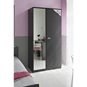 Swithome Armoire Chic à 2 portes avec miroir