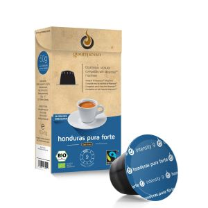 Gourmesso Capsules café Honduras Pura Forte compatibles machine Nespresso