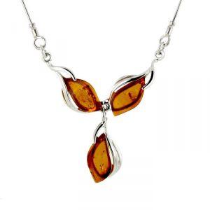 Rêve de diamants COBA01009 - Collier en argent 925/1000 et ambre