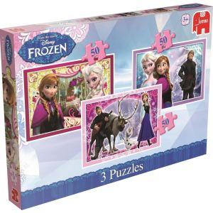 Jumbo Coffret de 3 puzzles - La Reine des Neiges 3 x 50 pièces