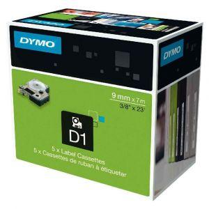 Dymo S0720690 - Ruban d'étiquettes D1 bleu/blanc (9mm x 7 m)