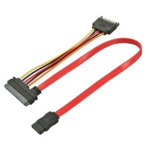 Lindy 33384 - Câble SATA 0,5 m Noir