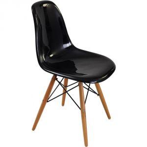 Chaise blanc brillant comparer 309 offres - Chaise eames fibre de verre ...
