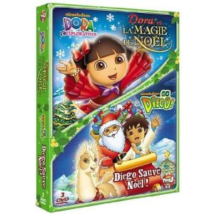 Coffret Dora et la magie de Noël + Go Diego ! : Diego sauve Noël !