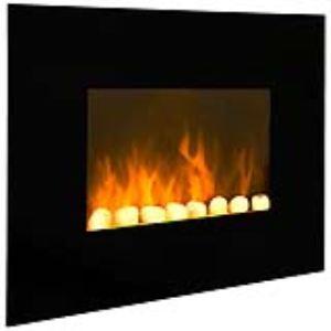 Chemin'Arte Black Fire - Cheminée électrique 2000 Watts