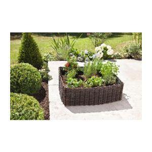 Intermas Gardening 170068 - Carré de plantation Vegetal Garden en osier avec bâche 75 x 75 x 25 cm