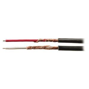 Valueline VLAR26501B100 - 2 Câbles audio 0,14 mm² 100 m noir