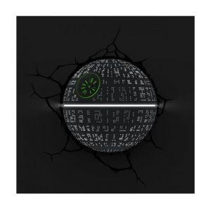 Applique veilleuse 3D Etoile de le Mort Star Wars