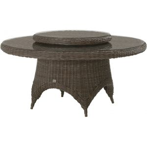 4 Seasons Outdoor Madoera - Table de jardin ronde en résine tressée Wicker Ø170 cm