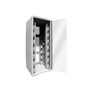 Dexlan Baie réseau 800 x 600 22U gris avec passe-câbles