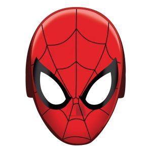 8 masques en carton Spiderman