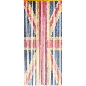 Morel Rideau de porte Union Jack en bambou (90 x 200 cm)