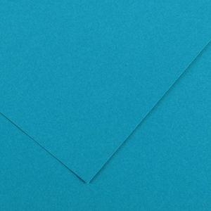 Canson 200040374 - Feuille Iris Vivaldi 50x65 240g/m², coloris bleu primaire 21