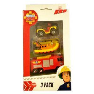 Dickie Toys Quad, bateau et camion de pompier Sam le Pompier