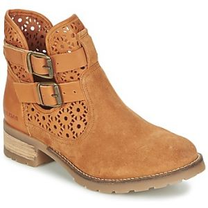 Pataugas Dove/A - Boots ajourées en cuir Camel