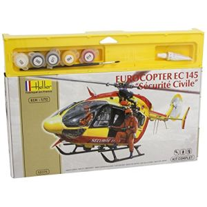 Heller Maquette Kit Hélicoptères : Eurocopter EC 145 Sécurité Civile - Echelle 1:72