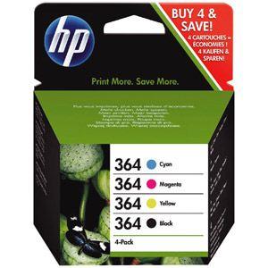 HP SD534EE - Combo Pack de 4 cartouches d'encre n°364 (noire, cyan, magenta et jaune)
