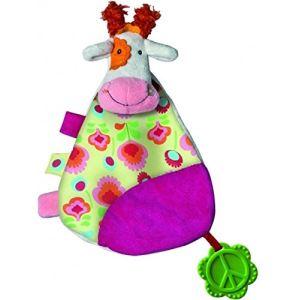 Ebulobo Doudou plat Peace & Love la Happy Farm - Anémone la vache