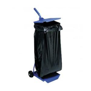 Mottez Support sac poubelle avec 2 roues à couvercle (1,10 m)