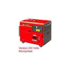 Mecafer MF5500D - Groupe électrogène diesel insonorisé mobile 5000W max monophasé (450155)
