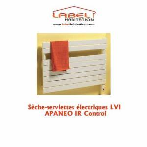 Lvi 3890112 - Sèche-serviettes Apaneo avec thermostat infrarouge IR control 600 Watts