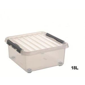 Sunware Boîte à roulette en plastique avec couvercle (18 L)