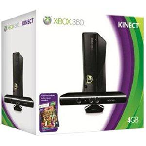 Microsoft Xbox 360 Slim 4 Go Pack Kinect Adventures : La console + le capteur + le jeu