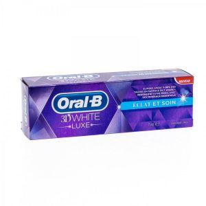 Oral-B 3D White Luxe - Dentifrice éclat et soin (75 ml)