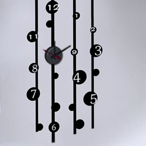 Horloge murale sticker Design Bambou