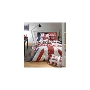 Linnea London Union Jack - Housse de couette et 2 taies (200 x 200 cm)
