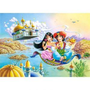 Castorland Aladin et Yasmine sur le tapis volant - Puzzle 54 pièces