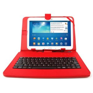"""Duragadget Etui aspect cuir avec clavier intégré fonction support + stylet tactile pour Samsung Galaxy Tab 3 P5200/P5210/ P5220 et Tab Pro 10,1"""""""