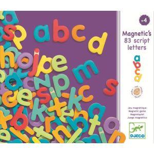 Djeco Lettres en bois minuscules magnétiques 83 pièces