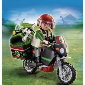 Playmobil 5237 Dinos - Explorateur et moto