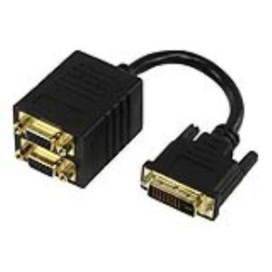 Bulk CABLE-563 - Câble Répartiteur DVI-I vers 2x VGA Plaqué Or